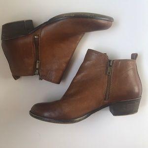 Lucky Brand Short Leather Heel Booties 6.5
